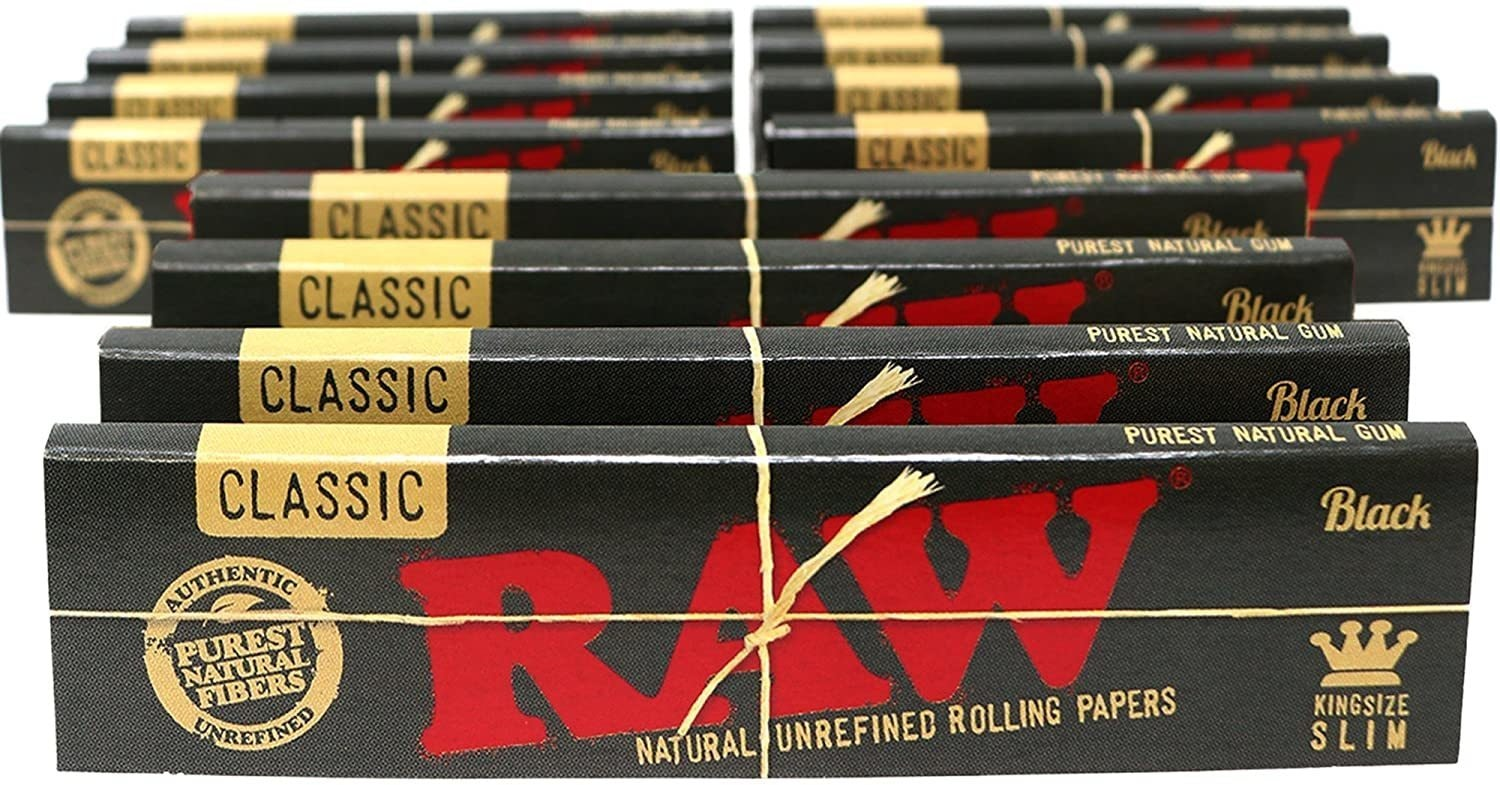 Classic Black Slim Rolling Papers - King Size Accessories Rolling Paper