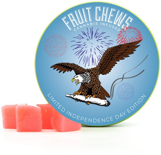 Red White & Chew Edibles Fruit Chew