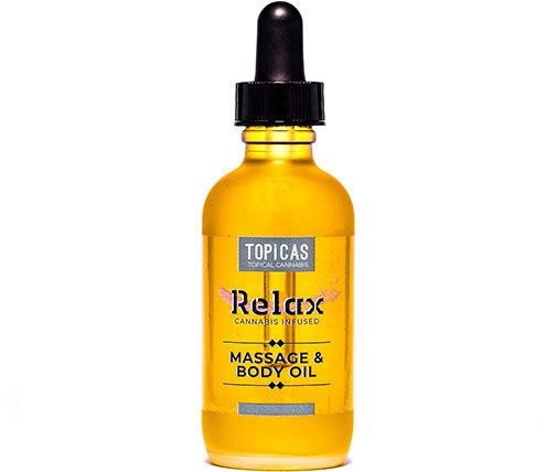THC Rosemary Topicals Massage Oil